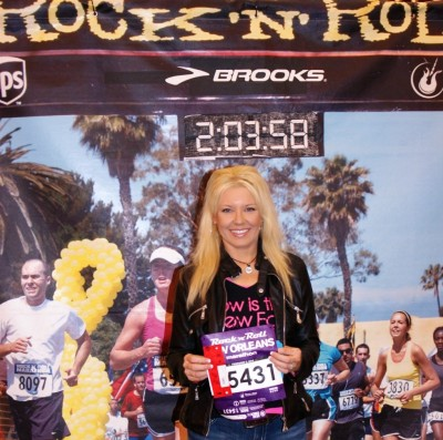 I finally remembered to have my picture taken with my bib!